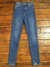 Topshop Moto Skinny Jeans Jamie  Blue Size 6 W25 To Fit L32 Rb69 DEFECT