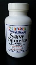 Saw Palmetto Extract 1000 mg 200 Capsules Prostate Health 6+ Month supply