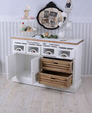WARDROBE COUNTRY HOUSE STYLE SIDEBOARD DRESSER SHABBY CHIC WHITE CABINET KITCHEN