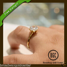 2 Ct Round Cut Solitaire Engagement Ring Solid 14k Yellow Gold ON SALE!!!!!!!