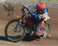 ANDREW TULLY HAND SIGNED SCUNTHORPE SCORPIONS 10x8 PHOTO SPEEDWAY 3.