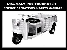 CUSHMAN 780 SERVICE OPERATIONS & PARTS MANUALs 280pg for Scooter Tuning & Repair