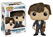 Funko Pop TV Sherlock - Sherlock Holmes w/ Violin Vinyl Action Figure Toy, 3.75""