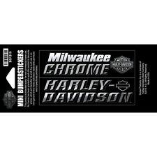 "Harley-Davidson Decals ""MILWAUKEE CHROME"" Aufkleber *BS1319* 2-teilig"