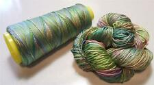 100% Reeled Mulberry Finest Silk Filature Yarn 50 gr Watercolor Haze RS005 Lot C