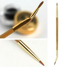 Double-ended Bamboo Eye Liner Lip Makeup Brush Tool Bent Straight Angled New