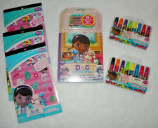 Disney Doc McStuffins Stationary Markers Crafts Stickers Lot Stocking Stuffers