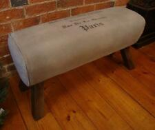 Canvas Bench Seat - Pommel Horse Style - Length 90cm - Paris Print