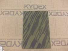 KYDEX T SHEET 297 X 210 X 2MM A4 SIZE OLIVE DRAB WOODLAND STRIPES CAMOFLAGE