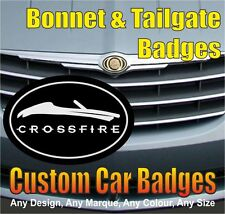 Chrysler Crossfire Roadster / Soft Top Grille and Tailgate Badges (black/chrome)