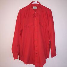 EUC MENS RED H BAR C PEARL SNAP WESTERN COUNTRY COWBOY L/S SHIRT LARGE