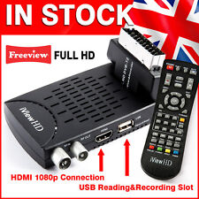 New FULL HD 1080P Mini Scart FREEVIEW HD Digital TV Receiver USB Recorder DVB-T2