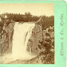 ELLISSON & CO. QUEBEC CANADA STEREOVIEW MONTMORENCY FALLS