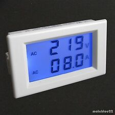 AC 80~300V 100A Digital Blue LCD Volt Amp Combo Panel Meter+Current Transformer
