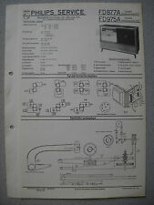 PHILIPS fd877a Capella 877, fd975a Capella 975 SERVICE MANUAL Edizione 09/57