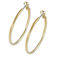 "2"" Large Y  Gold ""Nickel Free Hoop Earring-Omega Back-.USA MADE GREAT QUALITY"
