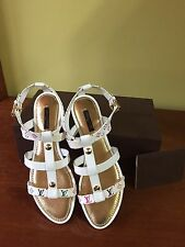 LOUIS VUITTON MONOGRAM MULTI LEATHER SANDALS. AUTH Size 8.5