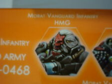 Infinity Morat Vanguard Infantry HMG Combined Army metal new