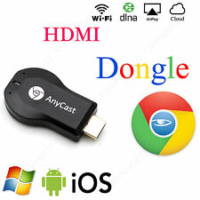 ANYCAST GOOGLE CHROMECAST INTERNET MEDIA STREAMER HDMI MICRO USB Android iOS MAC