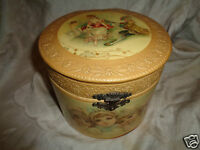 ANTIQUE VICTORIAN FRENCH LADY CHERUB BRUNDAGE GIRL CELLULOID COLLAR DRESSER BOX