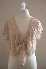 Lane Bryant Beige Lace Top Blouse Shrug Victorian Gothic BoHo Cowgirl