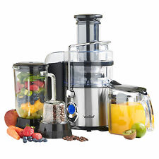 VonShef 3 in 1 Digital Whole Fruit Vegetable Power Juicer Blender Grinder