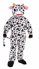 Adult Cow Mascot Costume Full Body Animal Suit Size Standard