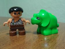 Lego Duplo Triceratops Baby & Caveman Boy Figures Only Replacements Retired