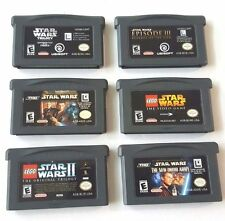 6 STAR WARS  Gameboy Advance Games Lot II TRILOGY DROID ARMY EPISODE III More