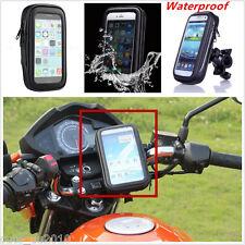 """Motorcycle Bike Handlebar Holder Mount + Waterproof Bag Case ≤ 5.5"""" Cell Phone"""
