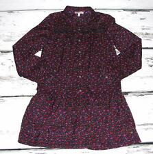 JUICY COUTURE~GIRLS~FLORAL PRINT *PEASANT TUNIC* SUMMER~PLEATED MINI DRESS~14