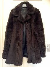 Dorothy Perkins Brown Faux Fur Coat Size 18
