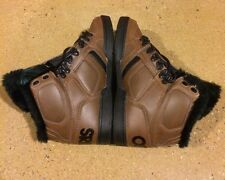 Osiris NYC 83 Shearling Size 6 Brown Black BMX DC MOTO Skate Shoes $85 Box