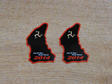 X2 Isle Of Man Tt Razas curso mapa sticker Negro/rojo 50mm Alta 2014