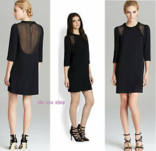 $598 MARC by Marc Jacobs black silk embellished cocktail dress NEW SZ 8