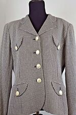 Emanuel Ungaro Women's Blazer Jacket Size 10 Checkered Italy Casual Parallele