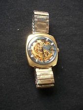 VINTAGE VULCAIN 22 JEWEL MANUAL WIND MENS SKELETON WATCH WORKS CIRCA 1970S
