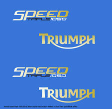TRIUMPH SPEED TRIPLE 1050 (2014 -bleu caspian) STICKER DECAL MOTO aufkleber