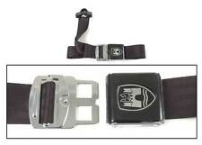 3-Point Seat Belt, Black, Black Buckle 50-67. VW Splitscreen Campervan Bus