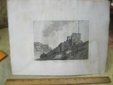 Vintage Print,NORTH SIDE FOWEY CASTLE,Pl1,Grose's Antiquities England,c1790