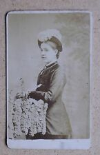 CDV Photo. Young Woman & Feather Hat. By W Beales, Peterborough (36304)