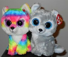 "Ty Beanie Boos Set ~ RIVER & WARRIOR the 6"" Wolves ~ GWL Exclusives ~2016 NEW"
