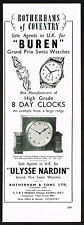 1950's Vintage 1956 Rotherhams Coventry Clock Co. - Buren Watch - Paper Print AD