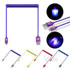 1M Light Up Visible LED Micro USB Data Sync Charger Cable Cord For Android Phone