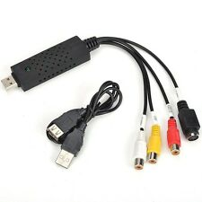 Adaptador usb capturador de video pasa tus videos a pc psp dvd video capturadora