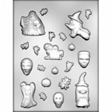 Halloween Assortment Witch Ghost Chocolate Candy Mold  skull monster