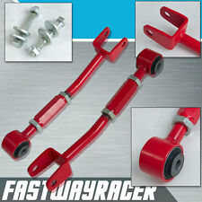 Red Rear Camber Arm Toe Bolt Kit For G35 Coupe 350Z Z33 VQ35 VQ35DE Fairlady RWD