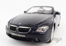 Kyosho BMW 645Ci Convertible 1:18 Diecast car Model Navy Blue 08702NB