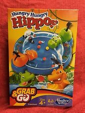 Hungry Hungry Hippos Grab and Go Game Hasbro Gaming New Free Shipping