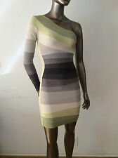 Herve Leger one shoulder ombre gray yellow bandage dress Size XXS or XS -$1,390
